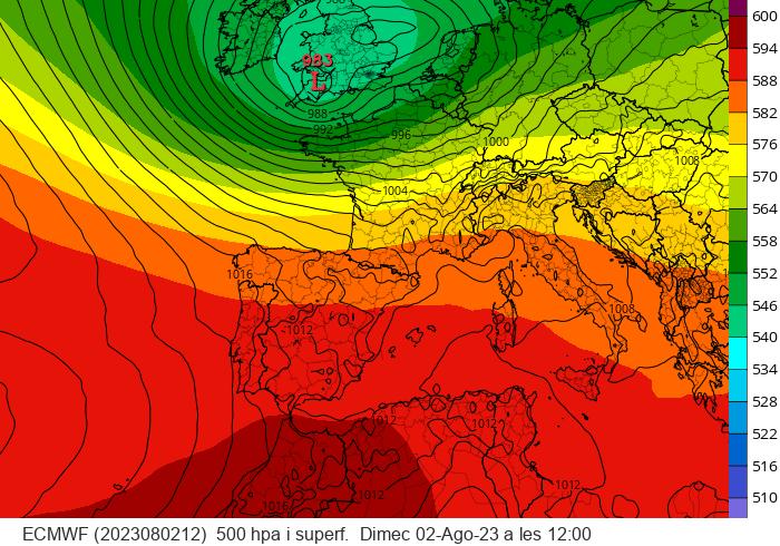 imatge del Model Europeu ECMWF